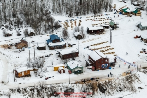 Teams rest around the town during their 24-hour layover at Takotna during Iditarod 2016.  Alaska.  March 09, 2016.  Photo by Jeff Schultz (C) 2016 ALL RIGHTS RESERVED