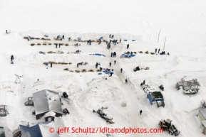 The Unalakleet checkpoint can be seen from above Sunday March 10, 2013.Iditarod Sled Dog Race 2013Photo by Jeff Schultz copyright 2013 DO NOT REPRODUCE WITHOUT PERMISSION