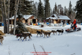 Lars Monsen runs past the Ophir Checkpoint on Thursday March 10 during Iditarod 2016.  Alaska.    Photo by Jeff Schultz (C) 2016  ALL RIGHTS RESERVED