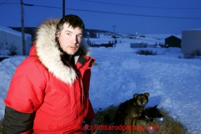 Ray Redington, Jr., photographed at the Elim checkpoint on Monday March 11, 2013.Iditarod Sled Dog Race 2013Photo by Jeff Schultz copyright 2013 DO NOT REPRODUCE WITHOUT PERMISSION