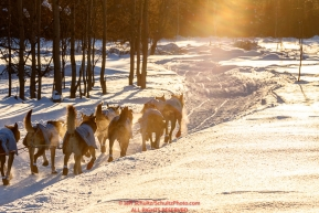 Scott Smith and team on the trail between Kaltag and Unalakleet during the 2017 Iditarod on Sunday evening  March 12, 2017.Photo by Jeff Schultz/SchultzPhoto.com  (C) 2017  ALL RIGHTS RESERVED