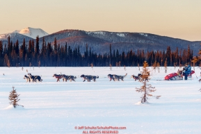 Lars Monsen on the trail between Kaltag and Unalakleet during the 2017 Iditarod on Sunday evening  March 12, 2017.Photo by Jeff Schultz/SchultzPhoto.com  (C) 2017  ALL RIGHTS RESERVED