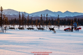 on the trail between Kaltag and Unalakleet during the 2017 Iditarod on Sunday evening  March 12, 2017.Photo by Jeff Schultz/SchultzPhoto.com  (C) 2017  ALL RIGHTS RESERVED