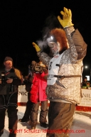 Jeff King waves to the crowd after finishing in 4th place in Nome on Wednesday March 13, 2013.Iditarod Sled Dog Race 2013Photo by Jeff Schultz copyright 2013 DO NOT REPRODUCE WITHOUT PERMISSION