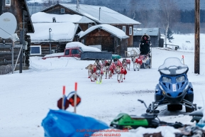 Ed Stielstra arrives in the morning at the Kaltag checkpoint in on Sunday March 13th during the 2016 Iditarod.  Alaska    Photo by Jeff Schultz (C) 2016  ALL RIGHTS RESERVED