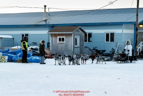 Hugh Neff arrives at the Koyuk checkpoint on Monday March 14th during the 2016 Iditarod.  Alaska    Photo by Jeff Schultz (C) 2016  ALL RIGHTS RESERVED