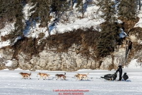Dallas Seavey leaving the White Mountain checkpoint on Monday March 14th during the 2016 Iditarod.  Alaska    Photo by Jeff Schultz (C) 2016  ALL RIGHTS RESERVED