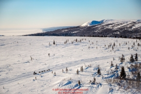 A dog team on the trail between Elim and Nome during the 2017 Iditarod on Tuesday morning March 14, 2017.Photo by Jeff Schultz/SchultzPhoto.com  (C) 2017  ALL RIGHTS RESERVED