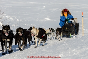 Martin Buser runs up the bank off the Yukon River at the Kaltag checkpoint on the afternoon of Sunday  March 15, 2015 during Iditarod 2015.  (C) Jeff Schultz/SchultzPhoto.com - ALL RIGHTS RESERVED DUPLICATION  PROHIBITED  WITHOUT  PERMISSION