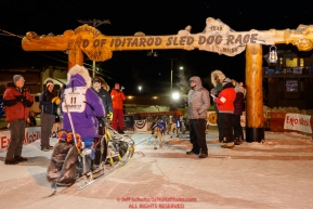 Ketil Reitan arrives at the finish line in Nome in 31st place during the 2017 Iditarod on Thursday March 16, 2017.Photo by Jeff Schultz/SchultzPhoto.com  (C) 2017  ALL RIGHTS RESERVED