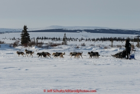 Dallas Seavey is on the trail a few miles after leaving the White Mountain checkpoint on Tuesday March 16, 2015 during Iditarod 2015.  (C) Jeff Schultz/SchultzPhoto.com - ALL RIGHTS RESERVED DUPLICATION  PROHIBITED  WITHOUT  PERMISSION
