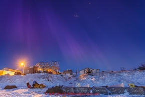 The Northern Lights dance early in the morning at the Unalakleet checkpoint on Tuesday March 16, 2015 during Iditarod 2015.  (C) Jeff Schultz/SchultzPhoto.com - ALL RIGHTS RESERVED DUPLICATION  PROHIBITED  WITHOUT  PERMISSION