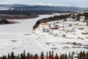Mitch Seavey runs on the Fish River in the afternoon headed into the White Mountain checkpoint on Tuesday March 16, 2015 during Iditarod 2015.  (C) Jeff Schultz/SchultzPhoto.com - ALL RIGHTS RESERVED DUPLICATION  PROHIBITED  WITHOUT  PERMISSION