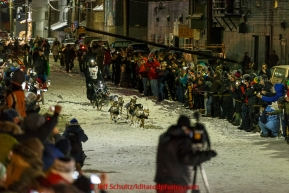 Dallas Seavey wins his 3rd Iditarod in 8 days 18 hours 13 minutes 6 seconds with lead dogs Reef and Hero on Wednesday March 18, 2015 during Iditarod 2015.  (C) Jeff Schultz/SchultzPhoto.com - ALL RIGHTS RESERVED DUPLICATION  PROHIBITED  WITHOUT  PERMISSION