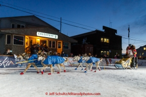 Mitch Seavey crosses the Nome finish line in second place on Wednesday March 18, 2015 during Iditarod 2015.  (C) Jeff Schultz/SchultzPhoto.com - ALL RIGHTS RESERVED DUPLICATION  PROHIBITED  WITHOUT  PERMISSION