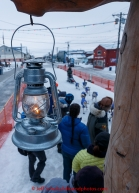 Lachlan Clarke runs up the finish chute at  Nome as the