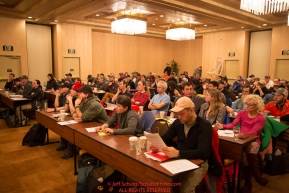 at the mandatory musher meeting at the Lakefront Anchorage hotel Wednesday March 2, 2017Photo by Jeff Schultz/SchultzPhoto.com  (C) 2017  ALL RIGHTS RESVERVED