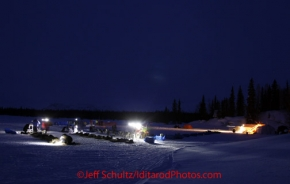 Monday March 5, 2012  Early morning at the Finger Lake checkpoint.  Iditarod 2012.