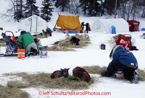 Monday March 5, 2012  At the Finger Lake checkpoint during Iditarod 2012.