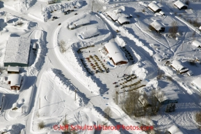 Friday March 9, 2012  Aerial view of the Yukon River village checkpoint of Ruby, Alaska. Iditarod 2012.