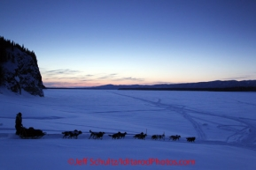 Friday March 9, 2012  Ray Redington, Jr. on the Yukon River leaving the village of Ruby, Alaska. Iditarod 2012.