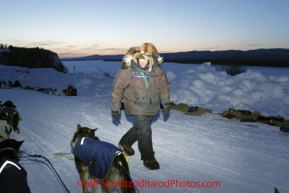Friday March 9, 2012 Sonny Lindner prepares to leave the Ruby, checkpoint. Iditarod 2012.