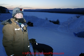 Friday March 9, 2012  Kate Batten, a volunteer checker from Denali, helps out at the the Yukon River village of Ruby, Alaska. Iditarod 2012.