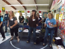 Teachers moving to the Iditarod teaching groove...