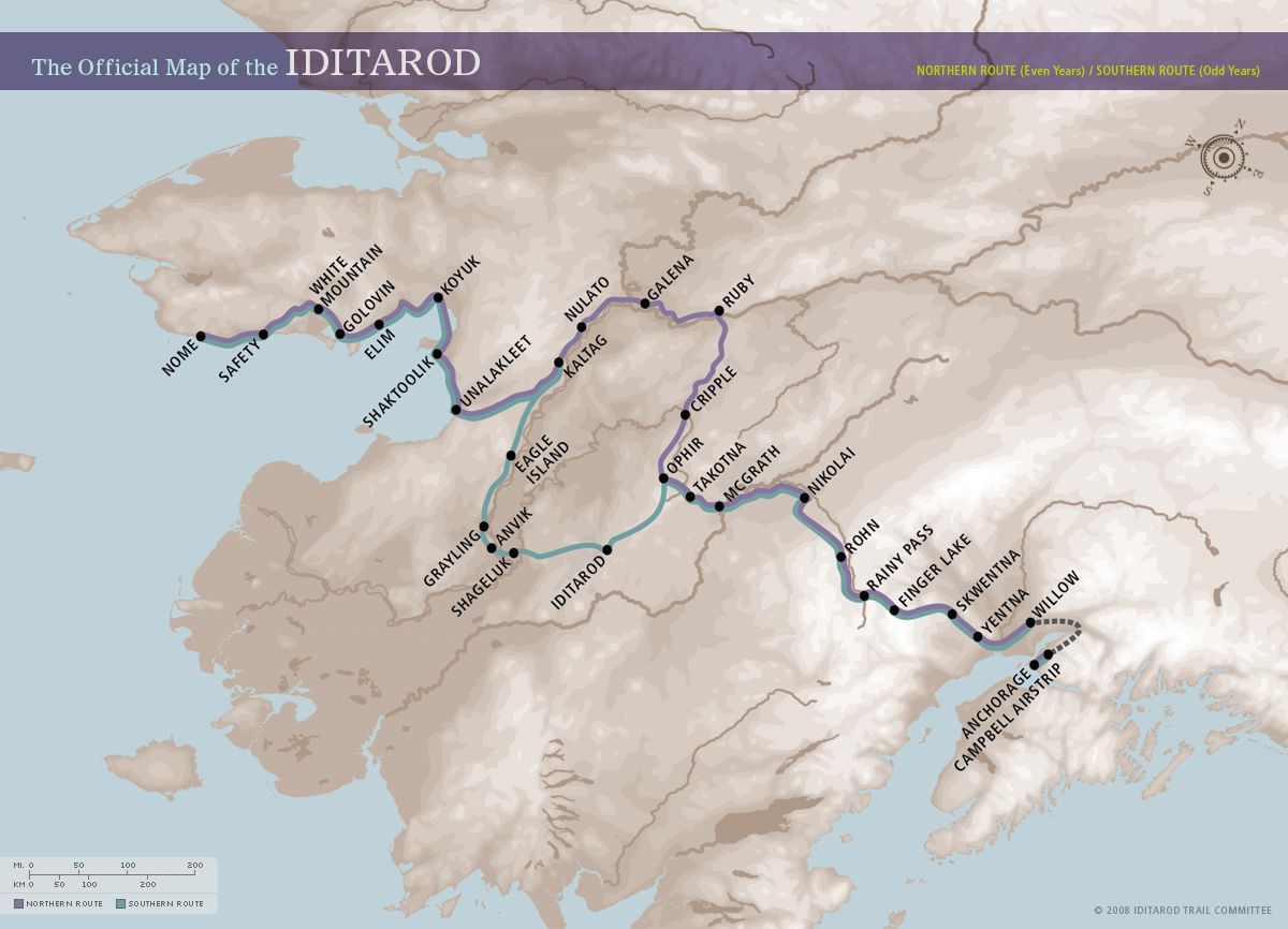Download Print And Use These Maps With Students Iditarod - Map print out