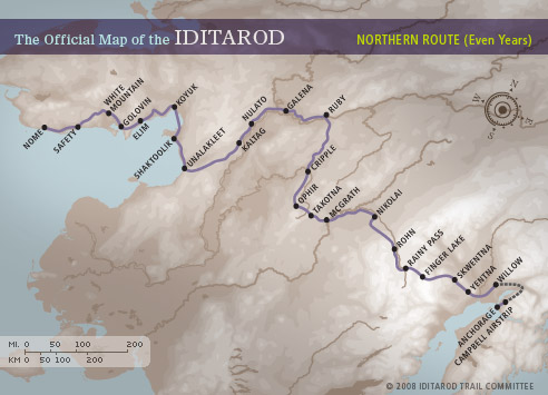 Race map iditarod checkpoints gumiabroncs Choice Image