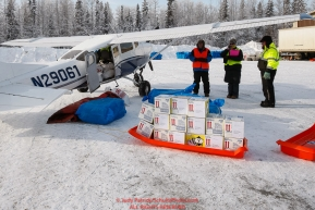 Iditarod Air Force flies out food and supplies to checkpoints before the 2018 race from the Willow airport in Willow, Alaska Photo by Judy Patrick/SchultzPhoto.com  (C) 2018  ALL RIGHTS RESERVED