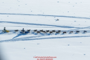A team is passed as they run on the trail along the Tanana river between Fairbanks and Nenana during the 2017 Iditarod on Monday March 6, 2017.Photo by Jeff Schultz/SchultzPhoto.com  (C) 2017  ALL RIGHTS RESVERVED