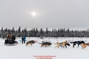 Martin Buser arrives at the Nikolai checkpoint during the 2018 Iditarod race on Tuesday afternoon March 06, 2018. Photo by Jeff Schultz/SchultzPhoto.com  (C) 2018  ALL RIGHTS RESERVED