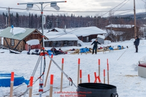 Streaming security cameras watch over the dog lot at the Takotna checkpoint on Wednesday March 7th during the 2018 Iditarod Sled Dog Race -- AlaskaPhoto by Jeff Schultz/SchultzPhoto.com  (C) 2018  ALL RIGHTS RESERVED
