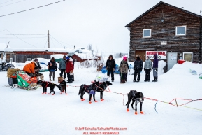 Kelly Maixner checks in and out of the Kaltag village checkpoint on Sunday morning March 11th during the 2018 Iditarod Sled Dog Race -- AlaskaPhoto by Jeff Schultz/SchultzPhoto.com  (C) 2018  ALL RIGHTS RESERVED