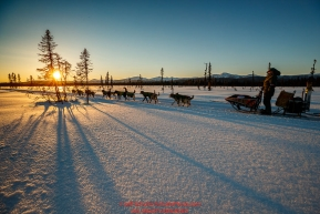 Jeff King runs on the trail between Kaltag and Unalakleet at sunset during the 2017 Iditarod on Sunday evening  March 12, 2017.Photo by Jeff Schultz/SchultzPhoto.com  (C) 2017  ALL RIGHTS RESERVED