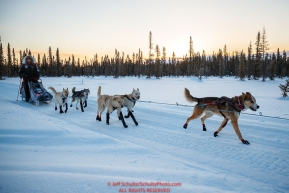 Allen Moore runs on the trail after leaving the Kaltag checkpoint during the 2017 Iditarod on Monday morning March 12, 2017.Photo by Jeff Schultz/SchultzPhoto.com  (C) 2017  ALL RIGHTS RESERVED