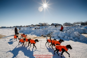 Martin Buser arrives at the Unalakleet checkpoint during the 2017 Iditarod on Monday afternoon  March 12, 2017.Photo by Jeff Schultz/SchultzPhoto.com  (C) 2017  ALL RIGHTS RESERVED