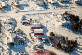 An ariel view of the Elim Checkpoint during the 2017 Iditarod on Tuesday morning March 14, 2017.Photo by Jeff Schultz/SchultzPhoto.com  (C) 2017  ALL RIGHTS RESERVED