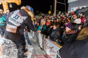 Joar Leifseth Ulsom at the finish line in Nome, Alaska early on Wednesday morning March 14th as he wins the 46th running of the 2018 Iditarod Sled Dog Race.  He finished in 9 days 12 hours 00 minutes and 00 secondsPhoto by Jeff Schultz/SchultzPhoto.com  (C) 2018  ALL RIGHTS RESERVED