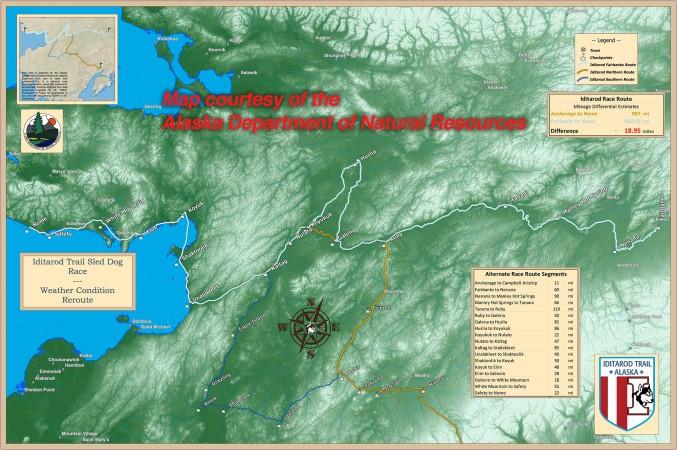 Race Map Iditarod