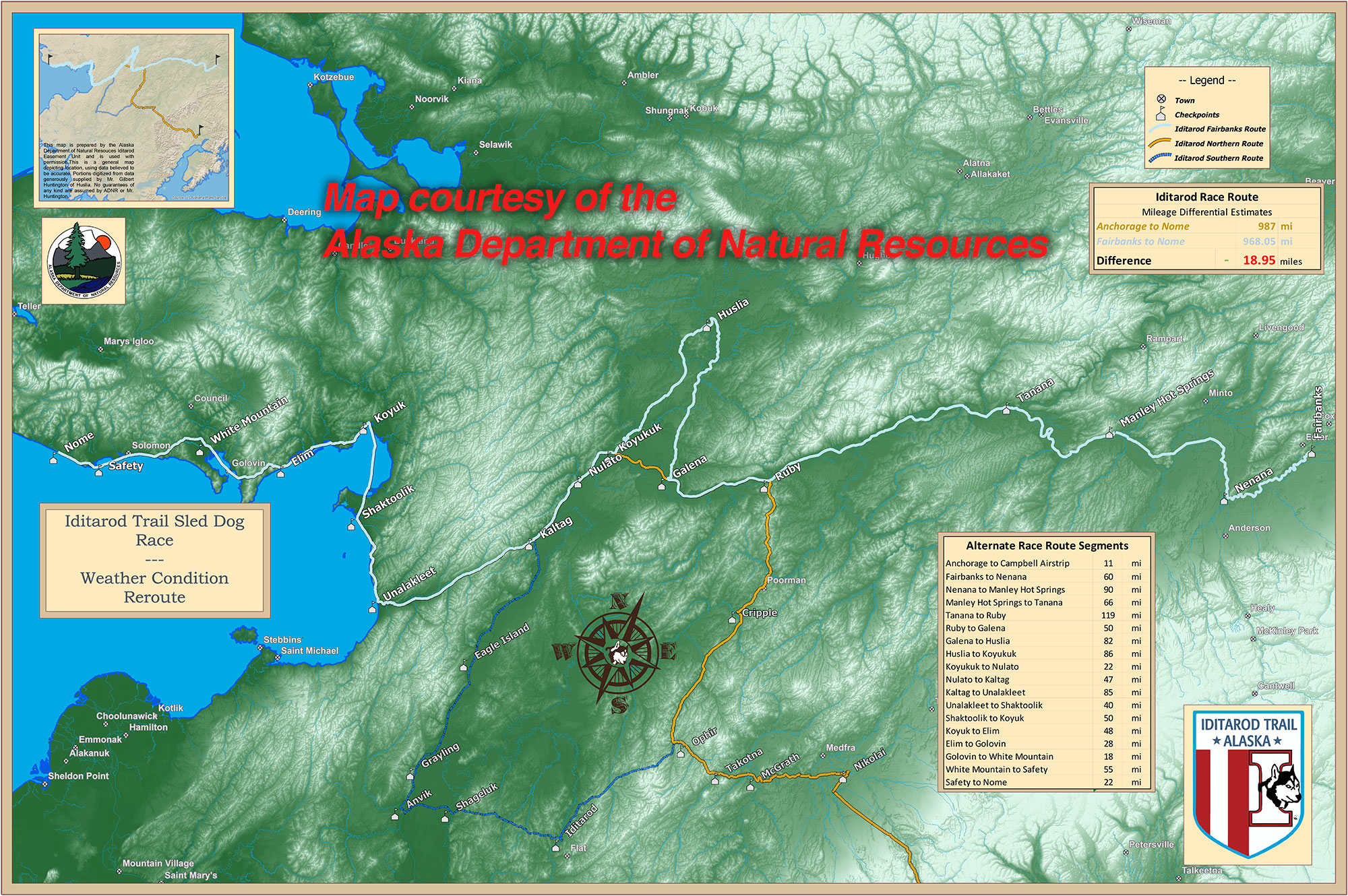 Race Map – Iditarod