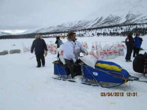 mike williams sr from akiak alaska arrives rainy pass