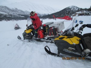 Insider Schnuelle ready to launch from Rainy Pass to Rohn