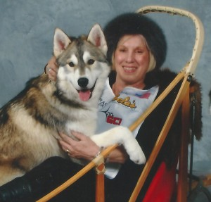 nancy livingston with otter and chinook jpeg