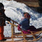 Kids in Kaltag during Iditarod