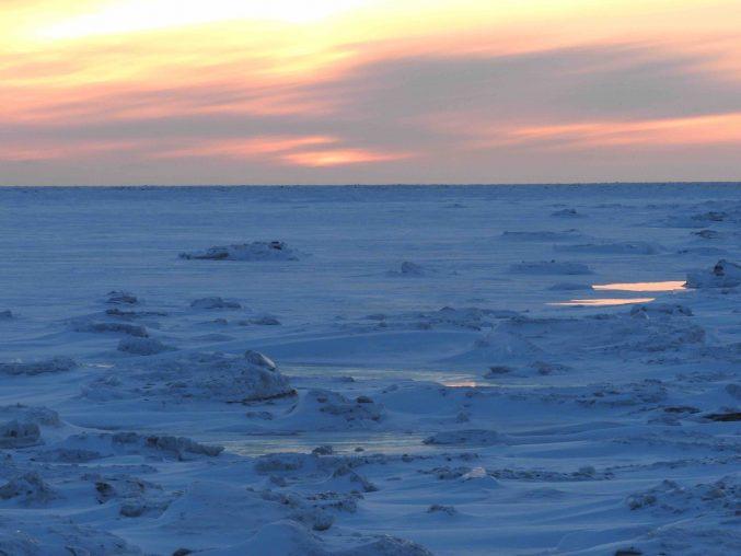 Sunset, Bering Sea, Unalakleet, Alaska, Iditarod