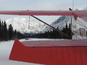 Planes Rohn remote airstrip. Iditarod